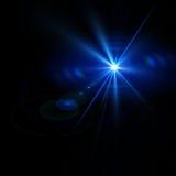 Lumières abstraites au-dessus des milieux noirs Photo stock