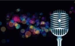 Lumières abstraites avec le mickrophone Photos libres de droits