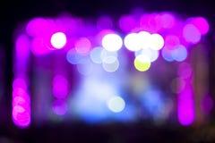Lumières abstraites d'étape de musique en direct photo stock