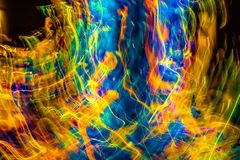 Lumières abstraites dans le mouvement avec des couleurs multiples Images stock
