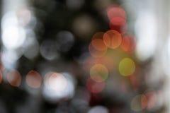 Lumières abstraites de Bokeh d'arbre de Noël photographie stock libre de droits