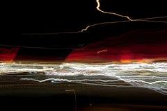 Lumières abstraites de nuit Image stock