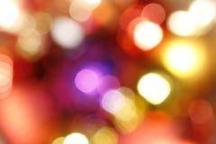 Lumières abstraites de vacances Images libres de droits