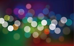 Lumières abstraites defocused multicolores illustration libre de droits