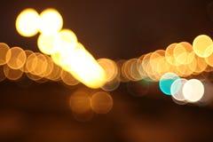 Lumières abstraites, ville de nuit Photo libre de droits