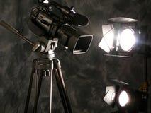 Lumières, appareil-photo, action ! Images stock