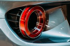 Lumières arrières de voiture de sport Photo stock