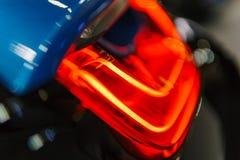 Lumières arrières de voiture de sport Image libre de droits
