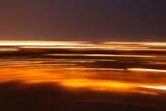 Lumières au fond de nuit Image libre de droits