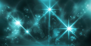 Lumières bleues abstraites Image libre de droits