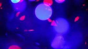 Lumières bleues brouillées banque de vidéos