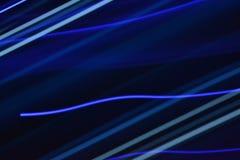 Lumières bleues brouillées Image libre de droits