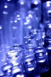 Lumières bleues de DEL se dirigeant vers le haut Photos stock