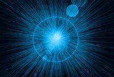 Lumières bleues de vitesse Photographie stock libre de droits