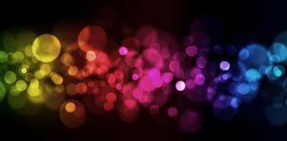 Lumières blured par abstrait Photographie stock libre de droits