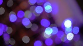 Lumières brouillées abstraites avec le fond de tache floue de mouvement banque de vidéos