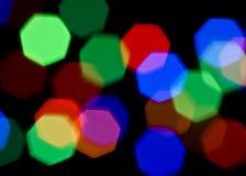 Lumières brouillées colorées lumineuses photos libres de droits