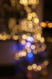Lumières brouillées d'arbre de Noël Photo libre de droits