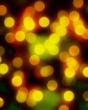 Lumières brouillées de Noël Image stock