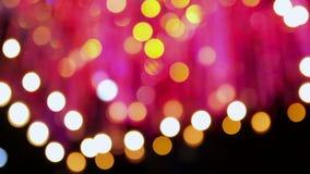 Lumières brouillées de partie de couleur banque de vidéos