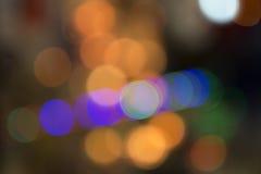 Lumières brouillées de ville Images libres de droits