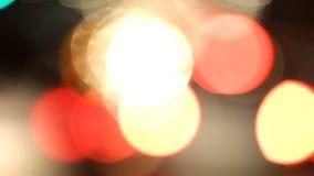 Lumières brouillées de voiture banque de vidéos