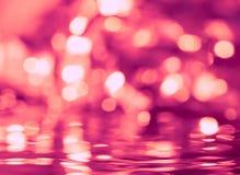 Lumières brouillées par Noël image stock