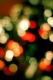 Lumières brouillées par Noël image libre de droits
