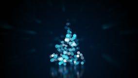 Lumières brouillées sur l'arbre de Noël Photo libre de droits