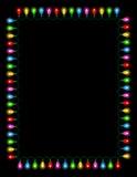 Lumières/cadre d'ampoules Image stock