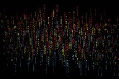 Lumières colorées abstraites sur le fond noir Image stock