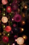 Lumières colorées de babiole Photos libres de droits