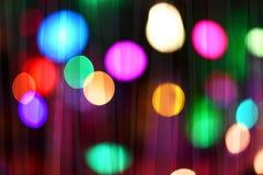 Lumières colorées de bokeh Photos libres de droits