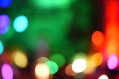 Lumières colorées de bokeh Photos stock