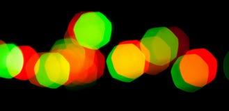 Lumières colorées de bokeh de guirlande Photographie stock libre de droits