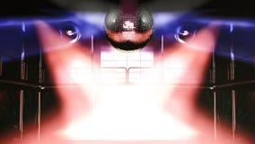 Lumières colorées de discothèque de boîte de nuit Photographie stock
