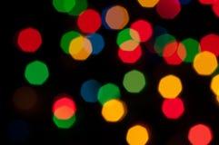 Lumières colorées de fête Image stock