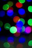 Lumières colorées de fond d'abrégé sur Noël Images stock