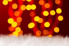 Lumières colorées de nouvelle année de bokeh de lumières Images stock