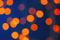 Lumières colorées de nouvelle année de bokeh de lumières Photo stock