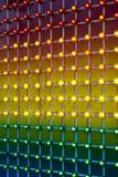 Lumières colorées de parc d'attractions Images libres de droits