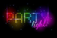 Lumières colorées de partie avec l'étincelle Image stock