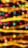 lumières colorées de vacances Photo libre de droits