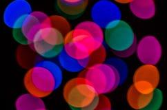 Lumières colorées et lumineuses brouillées, beau bokeh photo libre de droits