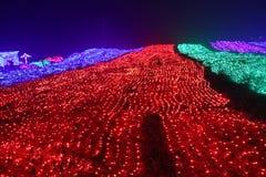 Lumières colorées la chute d'arc-en-ciel Photo libre de droits