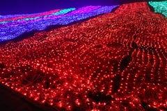 Lumières colorées la chute d'arc-en-ciel Image stock