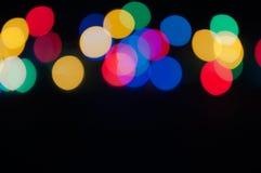 Lumières colorées lumineuses Images stock