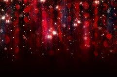 Lumières colorées sur le fond rouge image libre de droits