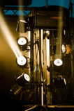 Lumières d'étape Photos stock