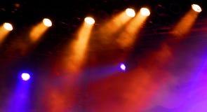 Lumières d'étape Images stock